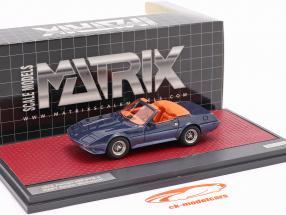 Ferrari 365 GTB-4 NART Spider Michelotti 1972 blue metallic 1:43 Matrix