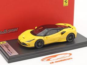 Ferrari F8 Tributo Baujahr 2019 modena gelb / schwarz 1:43 LookSmart