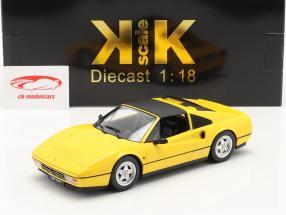 Ferrari 328 GTS Année de construction 1985 jaune 1:18 KK-Scale