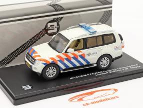 Mitsubishi Pajero Politie Holland 2013 hvid / appelsin / blå 1:43 Triple 9