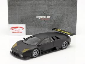 Lamborghini Murcielago R-GT Byggeår 2007 måtte sort 1:18 Kyosho