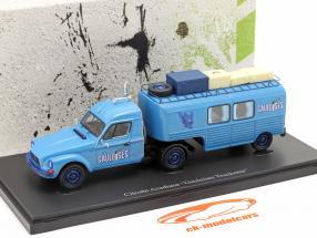 Citroen Acadiane Gauloises Truckente Baujahr 1981 blau 1:43 AutoCult