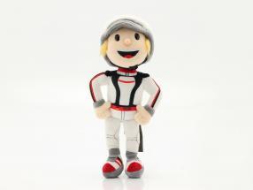 Porsche Plüschfigur Tom Targa 30 cm weiß / schwarz / rot