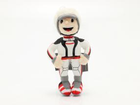 Porsche Plüschfigur Tom Targa 16 cm weiß / schwarz / rot