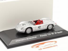 Porsche 718 RS 60 Spyder #42 winnaar 12h Sebring 1960 Herrmann, Gendebien 1:43 Welly