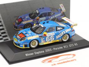 Porsche 911 GT3 RS #66 vencedor 24h Daytona 2003 Buckler, Schrom, Bernhard, Bergmeister 1:43 Spark