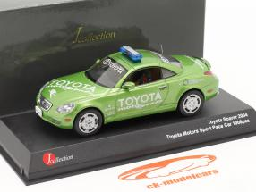 Toyota Soarer Toyota Motorsports Veiligheid Auto 2004 groen 1:43 JCollection