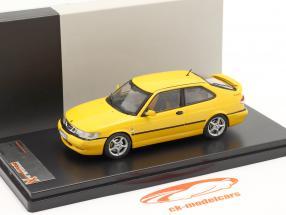 Saab 9-3 Viggen år 1999 gul 1:43 Premium X