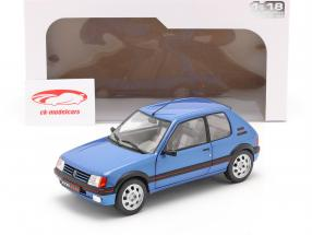 Peugeot 205 GTi 1.9L Mk1 Bouwjaar 1988 blauw metalen 1:18 Solido
