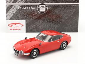 Toyota 2000 GT año 1967 rojo 1:18 Triple 9