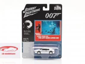 Lotus Esprit S1 James Bond The Spy Who Loved Me (1977) blanco 1:64 Johnny Lightning