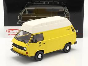 Volkswagen VW T3 toit élevé Deutsche Bundespost année 1979 jaune 1:18 PremiumClassiXXs