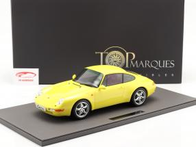 Porsche 911 (993) Carrera 2 Ano de construção 1994 amarelo 1:12 TopMarques