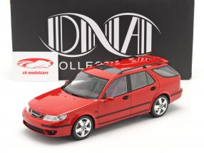Saab 9-5 Sportcombi Aero year 2005 red 1:18 DNA Collectibles