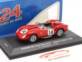 Ferrari 250 Testa Rossa #14 winnaar 24h LeMans 1958 Gendebien, Hill 1:43 Ixo