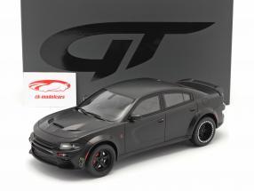 SPEEDKORE Dodge Charger SRT Hellcat Widebody 2019 mat zwart 1:18 GT-Spirit