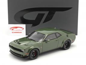 Dodge Challenger R/T Coupe year 2019 green metallic 1:18 GT-Spirit