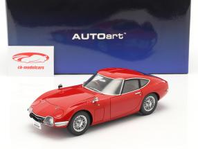 Toyota 2000 GT Coupe year 1967 red 1:18 AUTOart