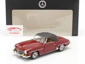 Mercedes-Benz 190 SL (W121) Bouwjaar 1955-63 medium rood 1:18 Norev