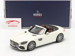 Mercedes-Benz AMG GT C Roadster Anno di costruzione 2019 bianca metallico 1:18 Norev