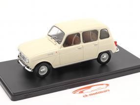 Renault 4L year 1964 cream white 1:24 Altaya