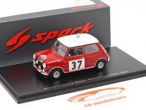Morris Cooper S #37 vincitore Rallye Monte Carlo 1964 Hopkirk, Liddon 1:43 Spark