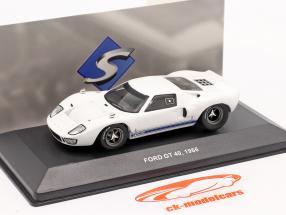 Ford GT40 Année de construction 1966 blanc 1:43 Solido