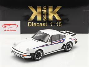 Porsche 911 (930) Turbo 3.0 Année de construction 1976 blanc / Martini Livery 1:18 KK-Scale