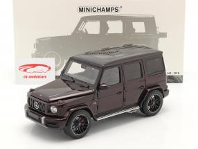 Mercedes-Benz AMG G63 Byggeår 2018 mørk rød metallisk 1:18 Minichamps