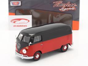 Volkswagen VW Type 2 van rouge / noir 1:24 MotorMax