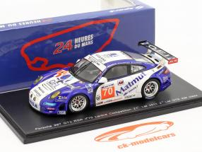 Porsche 911 GT3 RSR #70 Labre 2 GTE AM klasse 24h Le Mans 2011 1:43 Spark