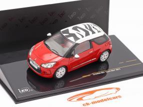 Citroen DS3 Sport Chic Baujahr 2011 rot / weiß 1:43 Ixo