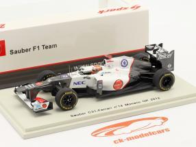 K. Kobayashi Sauber C31 #14 Monaco GP formel 1 2012 1:43 Spark