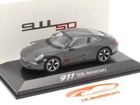 Porsche 911 (991) grijs 50 Jaar Porsche 911 Editie 1:43 Welly