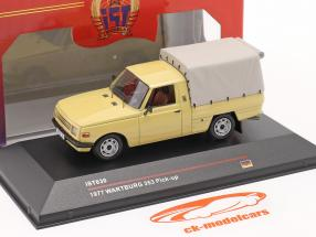 Wartburg 353 Pick-up jaar 1977 zand gekleurd 1:43 IST-Models