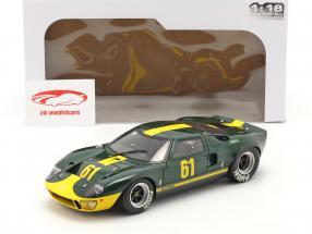 Ford GT40 MK1 #61 dunkelgrün metallic / gelb 1:18 Solido