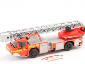 Iveco Magirus DLK 23-12 Med Pladespillerstige Brandvæsen Lam Orange rød 1:43 Altaya