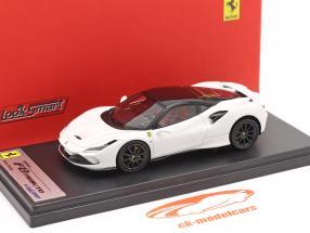 Ferrari F8 Tributo Bouwjaar 2019 cervino Wit / zwart 1:43 LookSmart