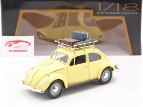 Volkswagen VW Scarabée Camping Version Année de construction 1967 jaune 1:18 Lucky Diecast