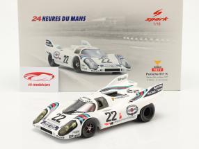 Porsche 917K #22 vinder 24h LeMans 1971 Marko, van Lennep 1:18 Spark