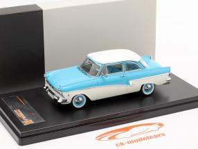 Ford Taunus 17M Baujahr 1957 blau / weiß 1:43 Premium X