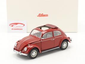 Volkswagen VW Scarabée avec Toit pliant Année de construction 1963 rouge 1:18 Schuco