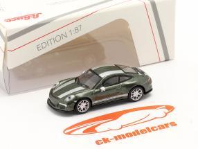Porsche 911 (991) R verde metallico 1:87 Schuco