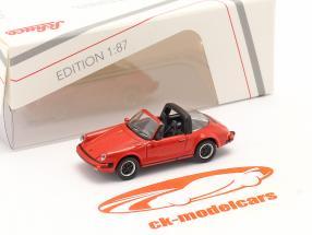 Porsche 911 Carrera 3.2 Targa rød 1:87 Schuco
