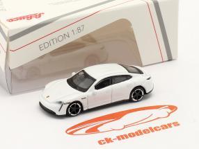 Porsche Taycan Turbo S bianca 1:87 Schuco