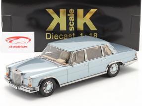 Mercedes-Benz 600 SWB (W100) Bouwjaar 1963 Lichtblauw metalen 1:18 KK-Scale