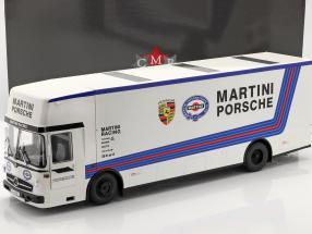 Mercedes-Benz O 317 Raza Carro Transportador Porsche Martini Racing blanco 1:18 CMR