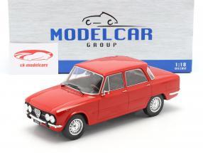 Alfa Romeo Giulia Nova Super Byggeår 1974 rød 1:18 Model Car Group
