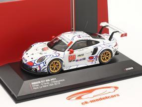 Porsche 911 (991) RSR #911 Clase Ganador Petit LeMans 2018 Porsche GT Team 1:43 Ixo