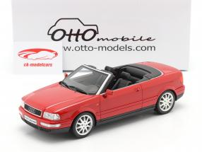 Audi 80 2.8L B3 Cabriolet Byggeår 2000 laser rød 1:18 OttOmobile
